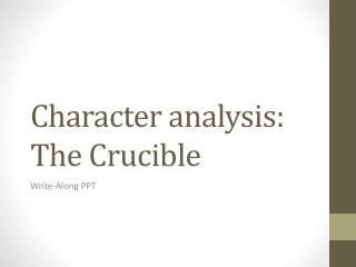 The Crucible Assignment Essay Example for Free